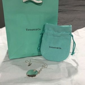 Authentic Tiffany and Co Round Pendant Necklace.